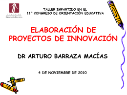 Elaboracion de proyectos de innovacion
