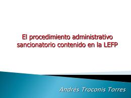 002-ANDRES TROCONIS Presentación procedimiento