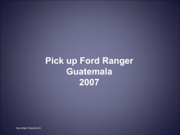 Pick up Ford Ranger Guatemala 2007