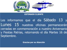 Diapositiva 1 - Yude Ford Honduras