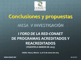 conclusiones v investigacion 2013