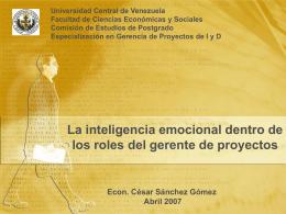 Describir el significado y características de la inteligencia emocional