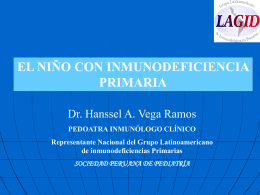 el niño con inmunodeficiencia primaria