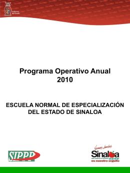 Programa Operativo Anual 2010 - Portal de Acceso a la Información
