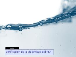 Módulo 07 - Verificación de la efectividad del PSA