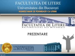 Prezentarea Facultății de Litere
