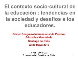 Presentación Cristián Cox - Provincia Mercedaria de Chile