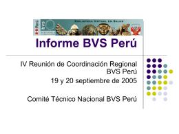 Apresentação BVS Peru