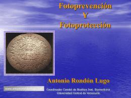 La fotoprotección - Antonio Rondón Lugo