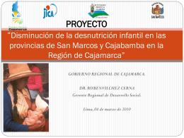 Disminución de la desnutrición infantil en las provincias de San
