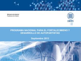 Rodriguez, Marcos INTI - Fortalecimiento de la competitividad en el