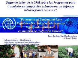 Panorama en Centroamérica y República Dominicana del contexto