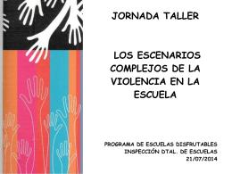 JORNADA TALLER LOS ESCENARIOS COMPLEJOS