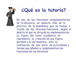 ¿Qué es la tutoría?