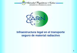 Infraestructura legal en el transporte seguro de material radiactivo