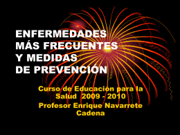 enfermedades más frecuentes y medidas de prevención