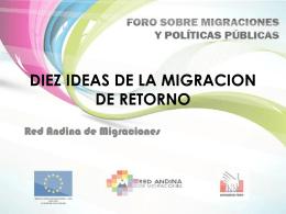 Diez ideas de la migración de retorno