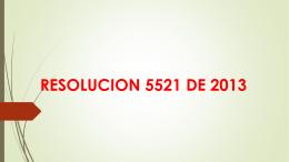 Resolución 5221 de diciembre 2013