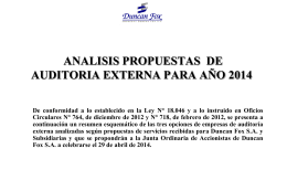 ANALISIS PROPUESTAS DE AUDITORIA