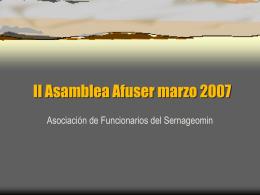 PRESENTACION AFUSER DICIEMBRE - 2006