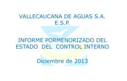 presentacion informe pormenorizado a diciembre 31 de 2013
