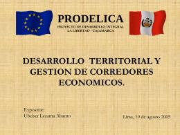 Gestión de Corredores Económicos