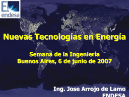 Nuevas Tecnologías en Energía.