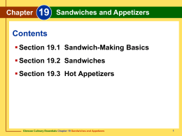 Chapter 19 Sandwiches and Appetizers