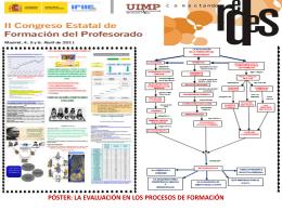 póster: la evaluación en los procesos de formación