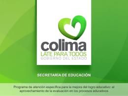 Slide 1 - Secretaría de Educación del estado de Colima