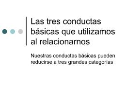 Las tres conductas básicas que utilizamos al relacionarnos