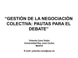 (Gestión de la negociación colectiva) enero 2008 - CHTJ-UGT