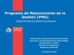 5. PMG 2011 - Dirección de Presupuestos