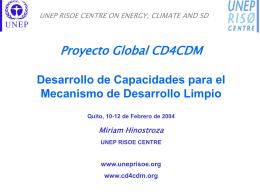 El Programa Global CD4CDM: Desarrollo de