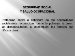 SEGURIDAD SOCIAL Y SALUD OCUPACIONAL