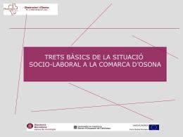 09/11/2009 Informe especial per Consell Econòmic i Social de la