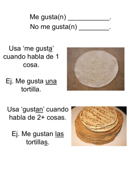 las tortillas - Kerry Guiliano