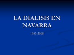 LA DIALISIS EN NAVARRA