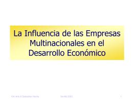 La Influencia de las Empresas Multinacionales en el Desarrollo