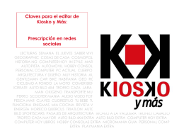 Claves para el editor: prescripción en redes sociales