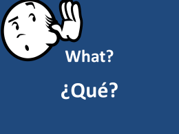 Qué? - Plain Local Schools