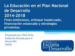 La Educación en el Plan Nacional de Desarrollo 2014