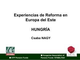 """""""Experiencias de Reforma en Europa del Este: Hungría"""