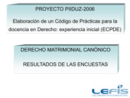 PROYECTO PIIDUZ-2206 Elaboración de un Código de Prácticas