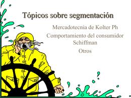 Tópicos sobre segmentación