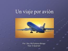 Un viaje por avión - Sra. Mc-Brown
