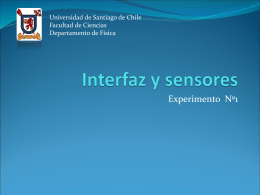 Sensores e interfaces