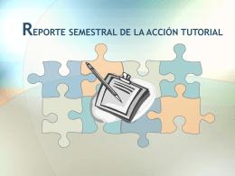 reporte semestral de la acción tutorial