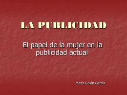 A PUBLICIDADE - María Golán / Página de inicio