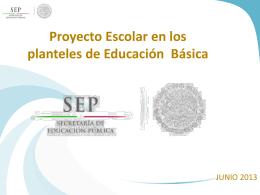 Reunión Estatal Programa Escuelas de Calidad